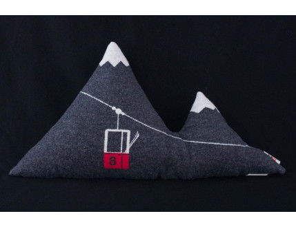 Ski Lift Mountain Pillow