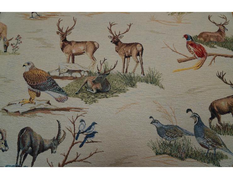 Gobelin fabric with wiild animals