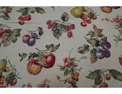 Gobelin fabric with fruits decoration