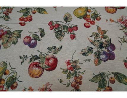 Gobelin-Stoff mit Früchte Motiv nach Wunsch-Größe