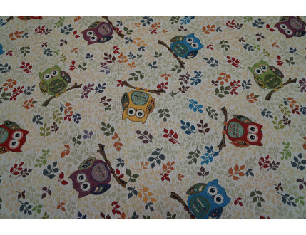 Fabric Gobelin owls