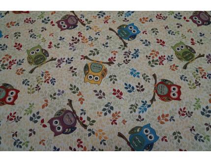 Gobelin fabric with owls