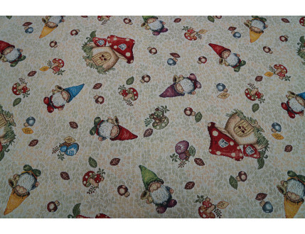 Gobelin fabric with draws decoration