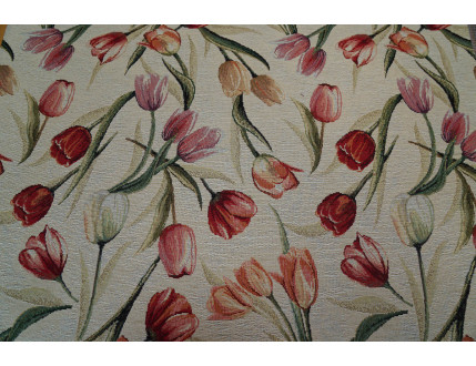 Gobelin fabric with tulips