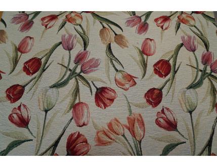 Gobelin-Stoff mit Tulpen Motiv  nach Wunsch-Größe