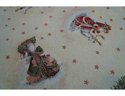 Creme gobelin Christmas Fabric