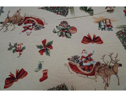 Gobelin Christmas Fabric with reindeer