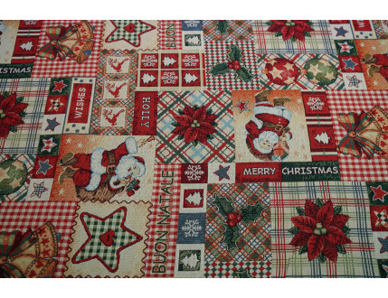 Gobelin fabric with Christmas decoration