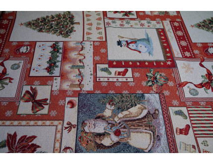 Gobelin fabric with Christmas decoration
