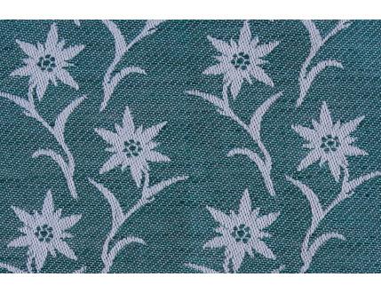 Kostenloses Musterstück in grüner Farbe mit Edelweiß