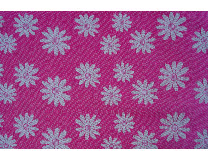 Free sample pink piece of fabric with flowers