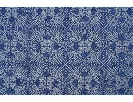 Pezzo di stoffa campione blu